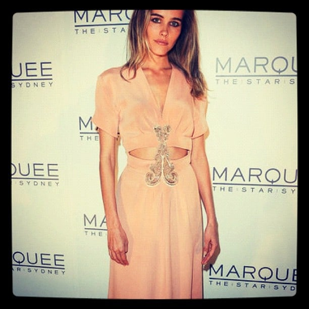 Teresa Palmer tweeted this sweet pic of gal pal Isabel Lucas at Marquee's star-studded launch party.