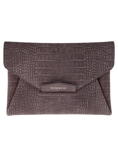 The bag: Givenchy Envelope Clutch ($903) Why we love it: Exotic textures like this, especially in a cool, neutral gray, are a mainstay in the fashion world. The textural intrigue adds dimension to your look, and the envelope structure, while hugely popular this year, isn't going anywhere anytime soon. Consider this a worthy upgrade on your go-with-anything evening clutch. It will be just that.
