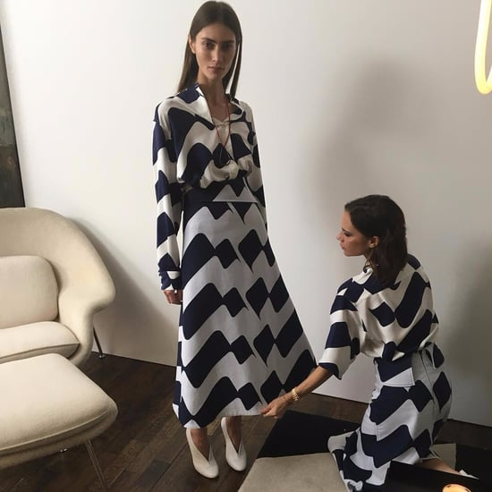 Victoria Beckham in a Pre-Fall 2017 Victoria Beckham Dress