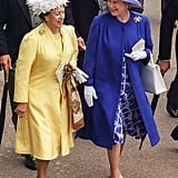 They coordinated in bright looks for Royal Ascot in 1996.