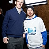 Eli Manning towered over Aaron Paul at the DirecTV Beach Bowl.