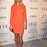 Bright, short, and sweet in Calvin Klein for Elle's annual Women in Hollywood Tribute in 2010.