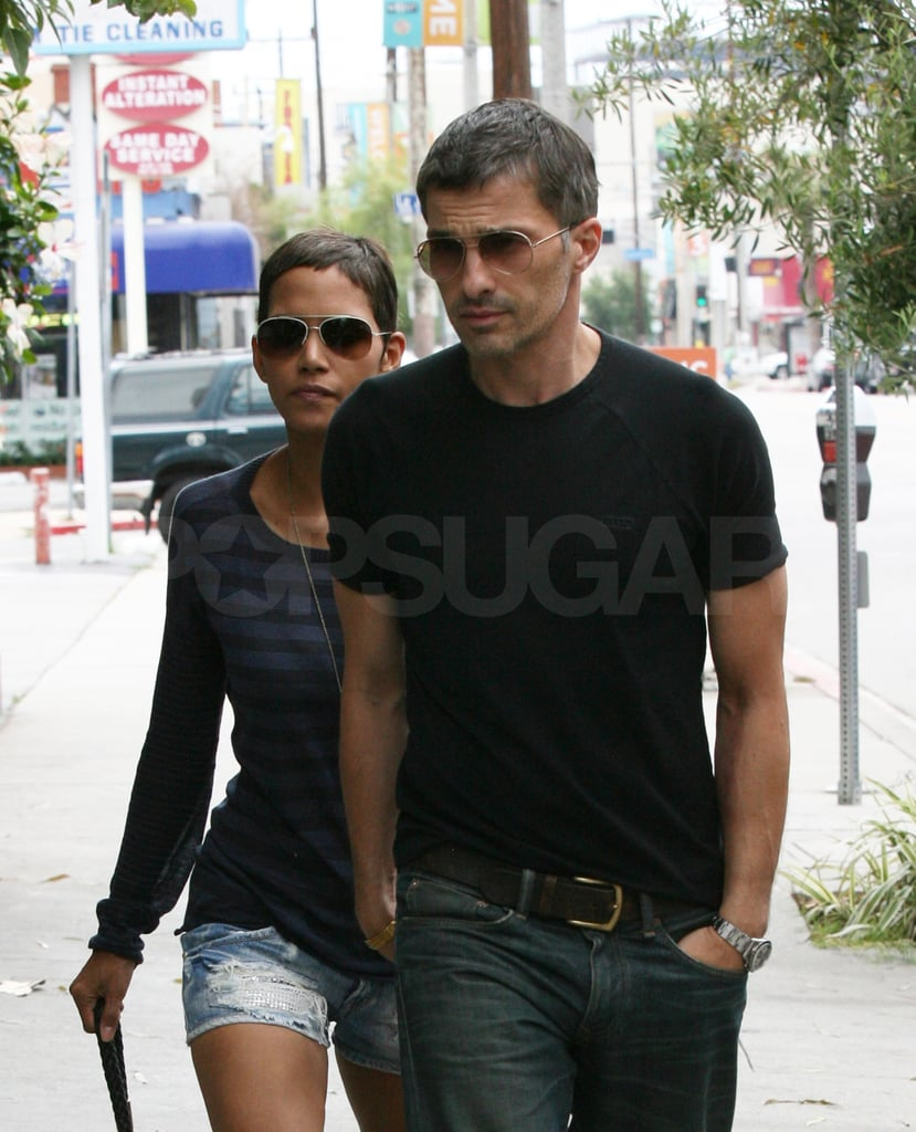 Halle Berry followed behind Olivier Martinez.