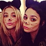Vanessa Hudgens played the role of kitty cat. Source: Instagram user vhofficial