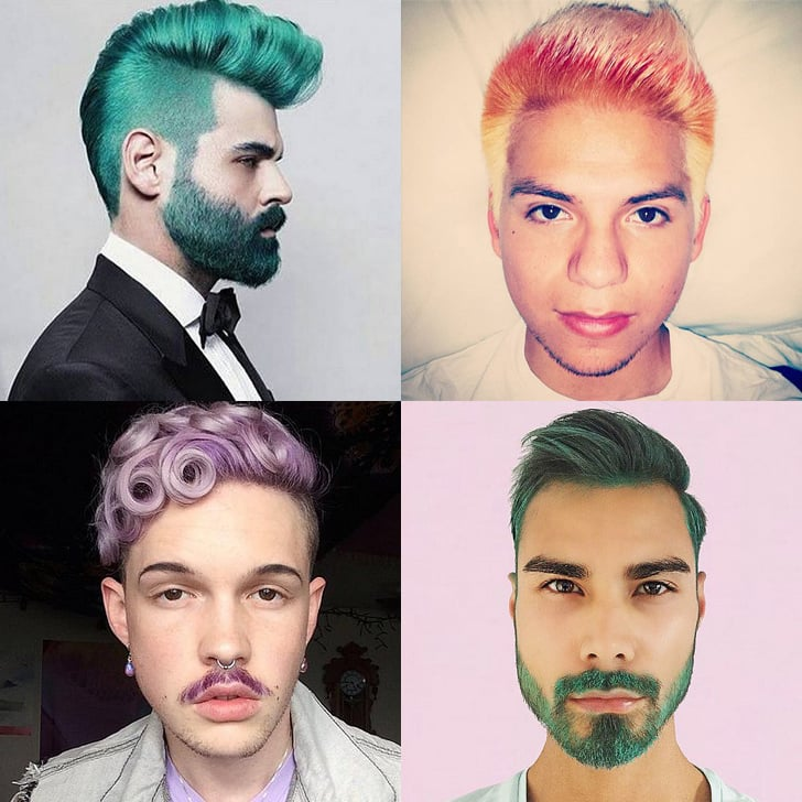 Rainbow Hair Color Ideas For Men Popsugar Beauty