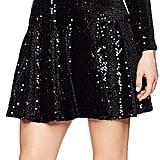 Eliza J Petite Long Sleeve Sequin Dress