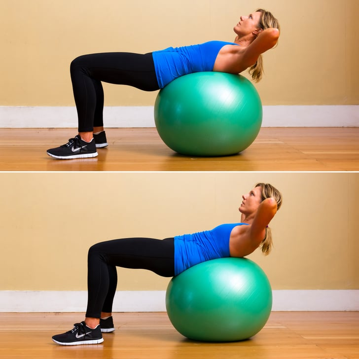 Stability Ball Knee Crunches: Best Stability Ball Exercises