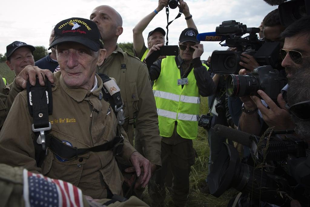 93-Year-Old Veteran Re-Creates D-Day Parachute Jump