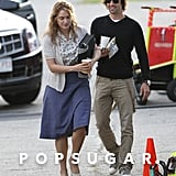 Kate Winslet and her boyfriend Ned Rocknroll were together on the set of Labor Day.