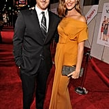 Odette Yustman and fiance Dave Annable always look fashionable. Here's their latest red carpet getup at the You Again LA premiere.