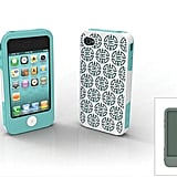 Shanghai iPhone 4/4S case with aquamarine and slate inner wraps and outer Shanghai pattern shell.