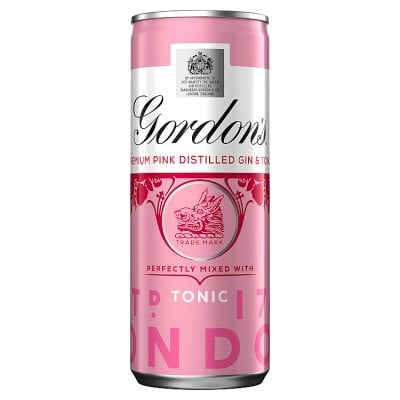 Gordon's Dry Pink Gin and Tonic