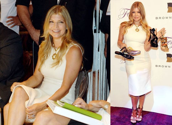 Photos of Fergie Unveiling Her Footwear Collection With Brown Shoe During the WSA Show in Las Vegas
