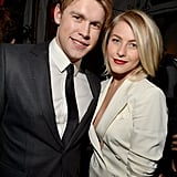 Julianne Hough chatted with Chord Overstreet at the GQ afterparty.