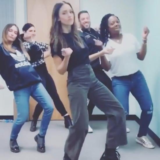 "Jessica Alba's Dance Routine to ""Lean Wit It, Rock Wit It"""