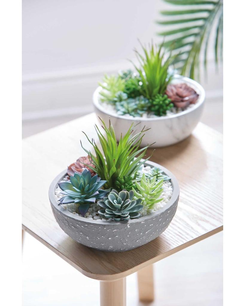 Aldi Artificial Plant in Marble Style Pot