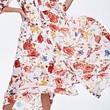 Forever 21 Floral Chiffon Maxi Shirt Dress