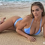 Kate Upton's Blue Bikini in Sports Illustrated 2018