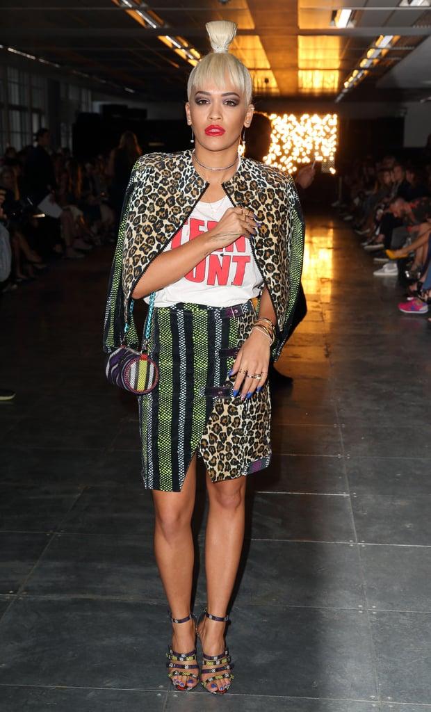 Rita Ora Celebrities Front Row At Fashion Week Spring