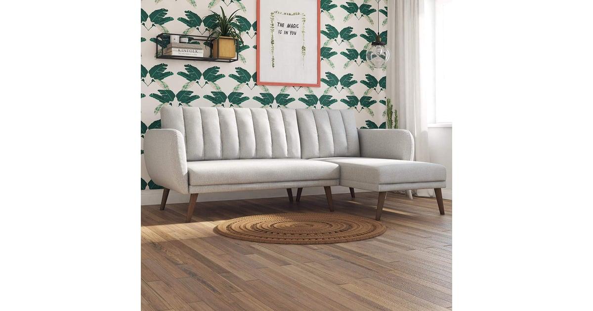 Novogratz Linen Brittany Sectional Futon Sofa Top Rated