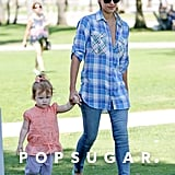 Jessica Alba and Haven Warren caught a little shade at an LA farmers market.