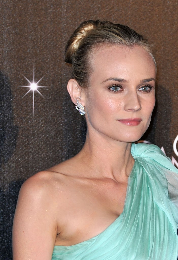 Diane Kruger looked radiant in a one-shoulder dress at the Cannes Film Festival opening night dinner.