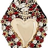 Dolce & Gabbana Sacred Heart Swarovski Crystal Brooch