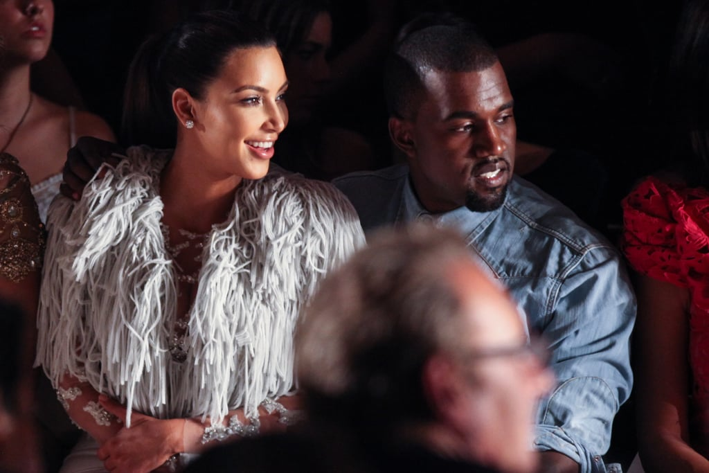 Kim Kardashian and Kanye West sat in the front row.