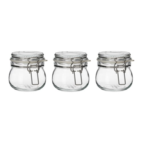These clear jars ($3.99 for three) are perfect for those baking necessities — like salt, baking soda, and baking powder.
