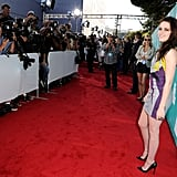 Kristen Stewart posed for photos on the red carpet.