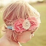 Soft Pink Flower Headband