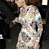 Beyoncé Knowles went to her sister Solange Knowles's show in NYC.