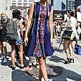 خلال أسبوع الموضة في نيويورك عام 2014، ارتدت ثوباً مزركشاً ومطبّعاً ضيّقاً من الأعلى بينما يتّسع بجزئه السفليّ في عرض المصمّم برابال غورونغ.
