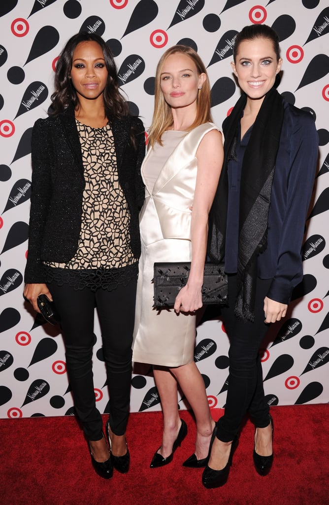 Zoe Saldana, Kate Bosworth, and Allison Williams made a pretty gorgeous trio, no?