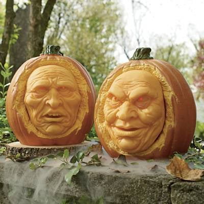 Animated Interactive Jack-O-Lanterns Set of Two