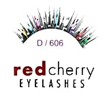 Red Cherry Eyelashes Glitter Mixed Color D606