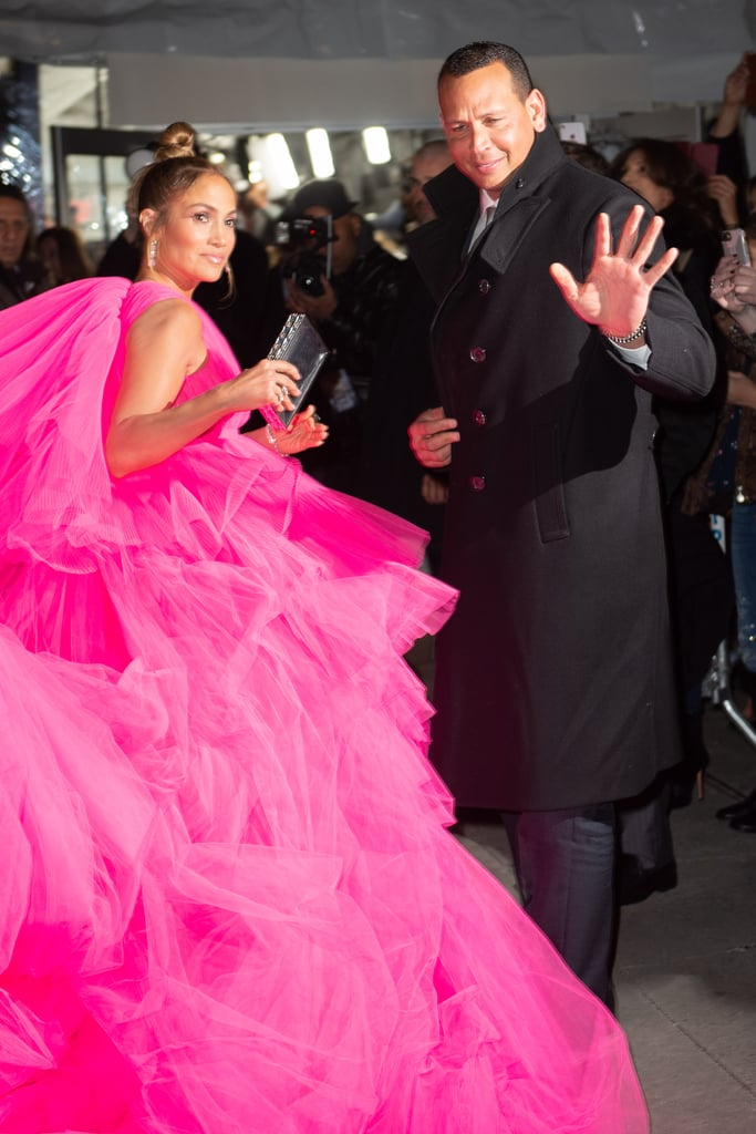 0a033d07f51 Jennifer Lopez s Hot-Pink Dress at the Second Act Premiere 2018 ...