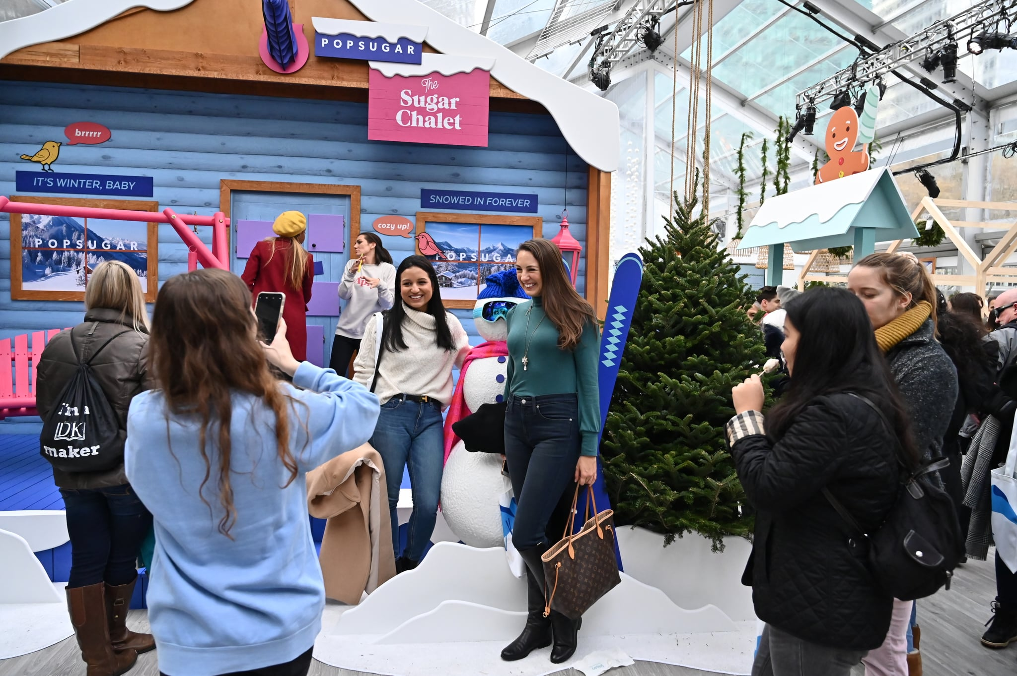 NEW YORK, NEW YORK - NOVEMBER 23:  Guests attend POPSUGAR's first-ever Sugar Chalet Winter Wonderland In Bryant Park on November 23, 2019 in New York City. (Photo by Astrid Stawiarz/Getty Images for POPSUGAR)