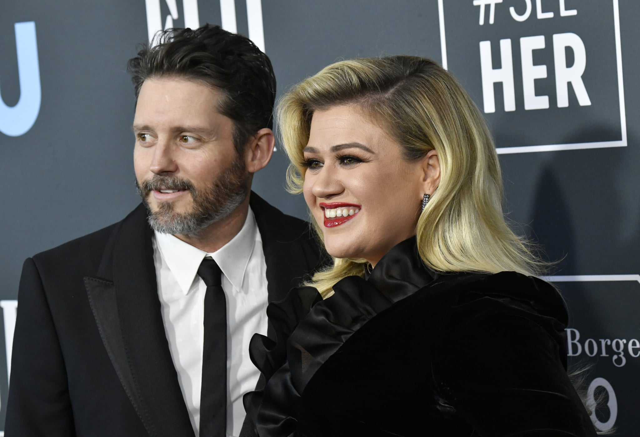 SANTA MONICA, CALIFORNIA - JANUARY 12: (L-R) Brandon Blackstock and Kelly Clarkson attend the 25th Annual Critics' Choice Awards at Barker Hangar on January 12, 2020 in Santa Monica, California. (Photo by Frazer Harrison/Getty Images)