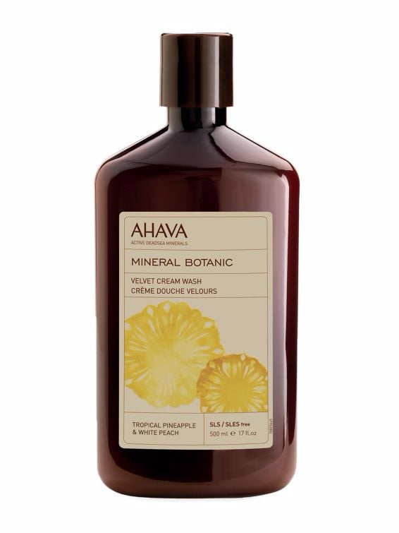 A body cleanser that leaves an amazing scent on your skin after you are done using it. Ahava Mineral Botanic Cream Wash Tropical Pineapple and White Peach ($38)