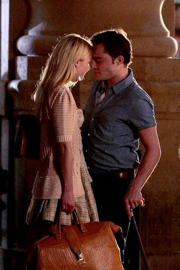 "Ed Westwick kisses his co-star Clemence Poesy whilst filming scenes for season 4 of ""Gossip Girl"" in Paris. ."