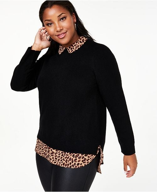 Charter Club Cashmere Layered-Look Sweater