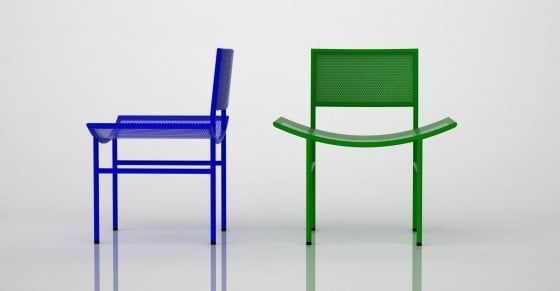 The Geometric Chair from Karre Design was designed by Sadi Ozis during the early '60s and can be used outdoors.