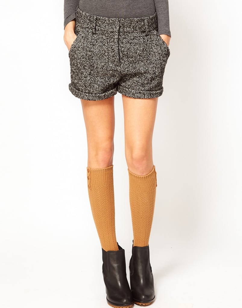 We love the double dose of details here. Between the chunky knit finish and cute button accent at the top, we have to get our hands on a pair of Pieces Helena knee-high socks ($9).
