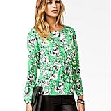 Celebrating St. Patrick's Day with a dinner date? Go glam with this floral-print Forever 21 blouse ($20), leather leggings, and a pair of patent pumps.