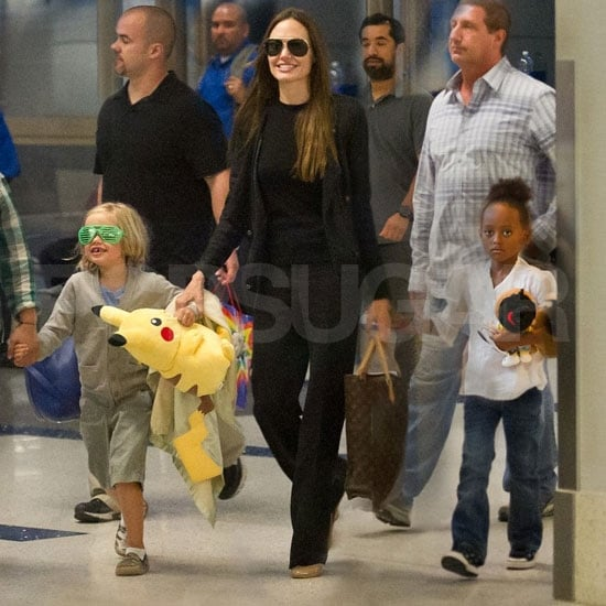 Angelina Jolie Pictures With Daughters Shiloh and Zahara Jolie-Pitt