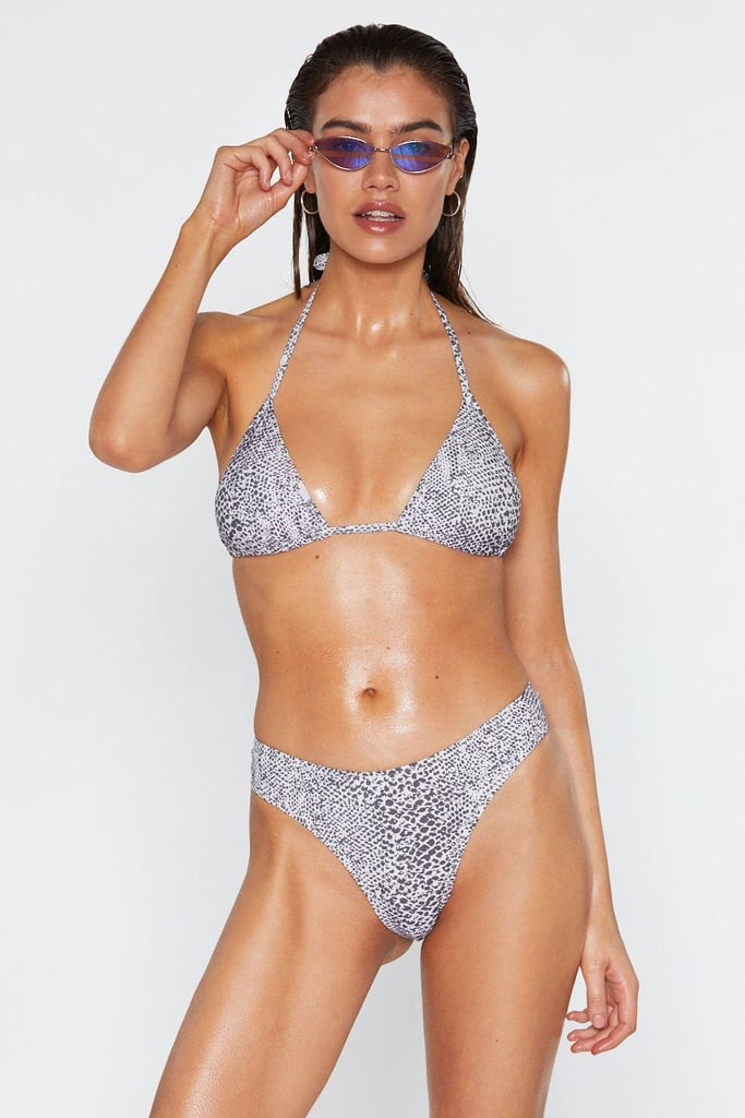Snake No Mistake Triangle Bikini Top