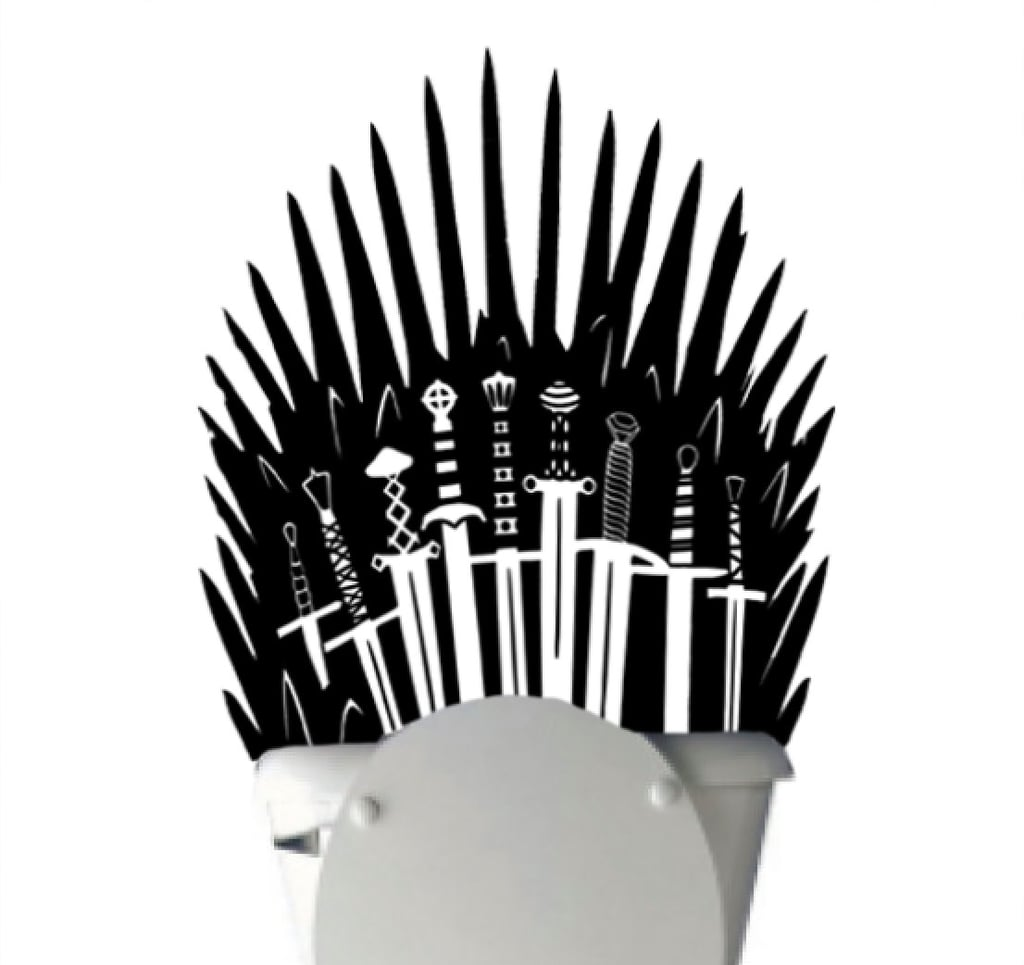 Iron Throne Toilet Decal Sticker Parody