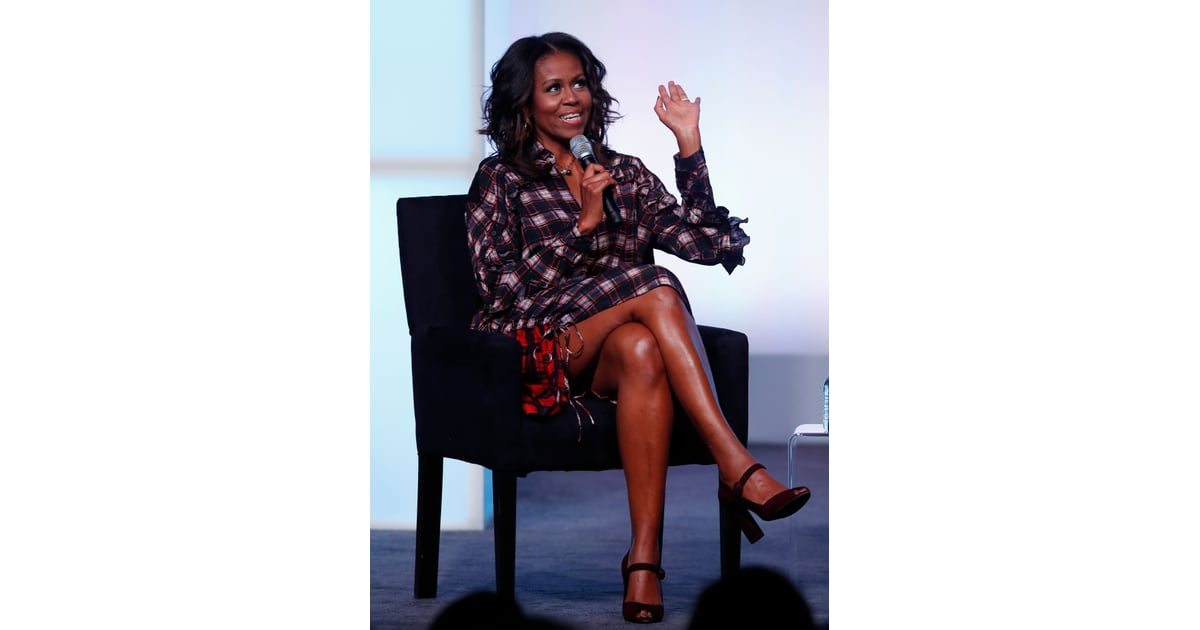 "Michelle Obama's Dress Says, ""I'm No Longer FLOTUS, but I'm All Up on My Fashion"""