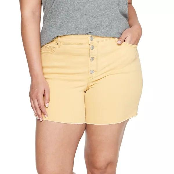Shop Similar Yellow Denim Shorts
